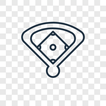 Baseball field vector icon isolated on transparent background, Baseball field logo concept