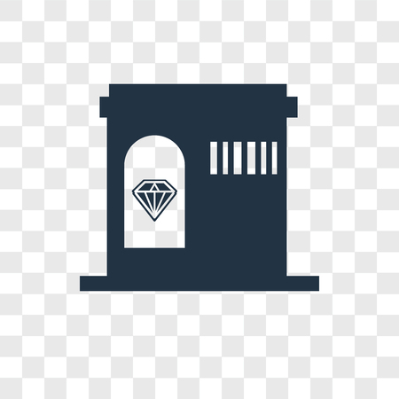 Jewelry store vector icon isolated on transparent background, Jewelry store logo concept Stock Illustratie