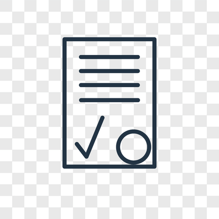 Contract vector icon isolated on transparent background, Contract logo concept Иллюстрация