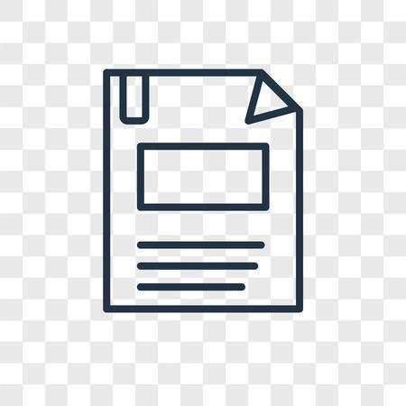 Diskettenvektorsymbol lokalisiert auf transparentem Hintergrund, Diskettenlogokonzept Logo