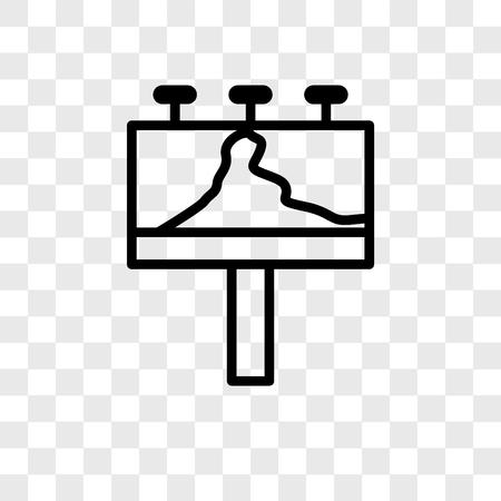 Icône de vecteur de panneau d'affichage isolé sur fond transparent, concept logo Billboard