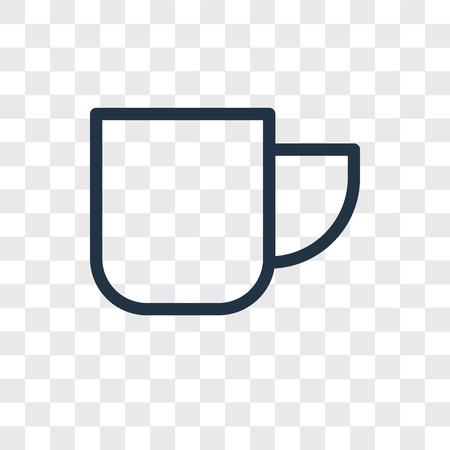 Mug vector icon isolated on transparent background, Mug logo concept