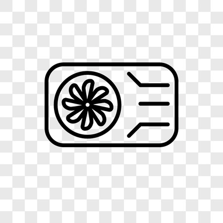 Air conditioner vector icon isolated on transparent background, Air conditioner logo concept Stockfoto - 107158579
