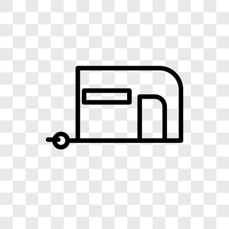 Caravan vector icon isolated on transparent background, Caravan logo concept