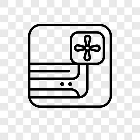 Icône de vecteur de climatiseur isolé sur fond transparent, concept logo climatiseur