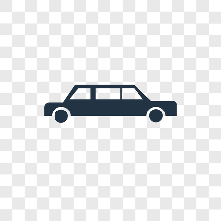 Limousine vector icon isolated on transparent background, Limousine logo concept