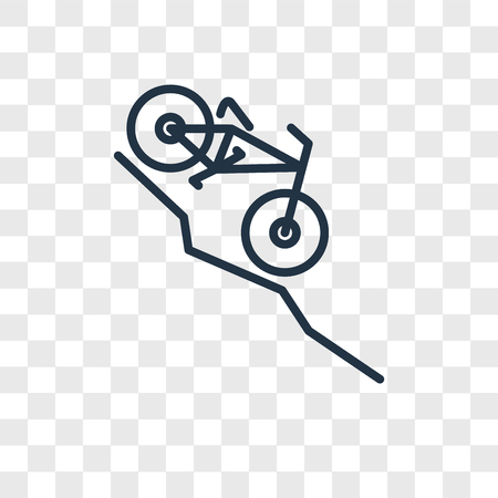 bicycle going Downhill vector icon isolated on transparent background, Downhill logo concept