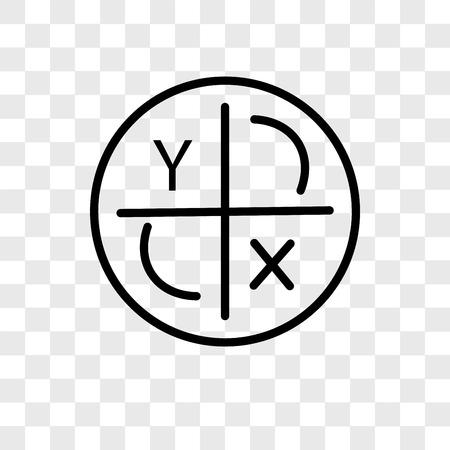 Icône de vecteur d'axe isolé sur fond transparent, concept logo axe Logo