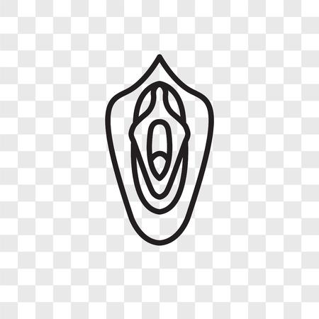 Icône de vecteur de vagin isolé sur fond transparent, concept logo vagin