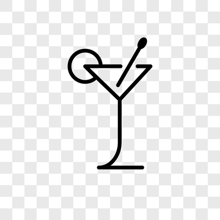 Cocktail vector icon isolated on transparent background, Cocktail logo concept 版權商用圖片 - 107778739