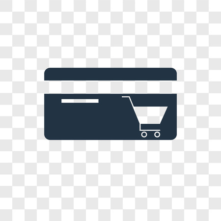 Shopping cart vector icon isolated on transparent background, Shopping cart logo concept