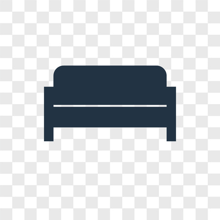Sofa vector icon isolated on transparent background, Sofa logo concept