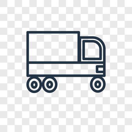 Icône de vecteur de camion poubelle isolé sur fond transparent, concept logo camion poubelle