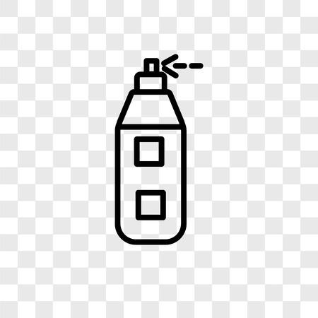Icône de vecteur aérographe isolé sur fond transparent, concept logo aérographe Logo