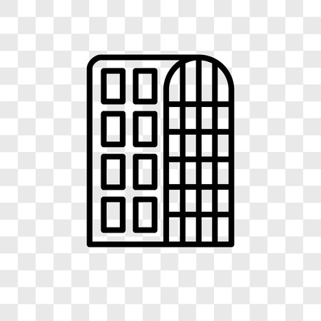 Hotel vector icon isolated on transparent background, Hotel logo concept