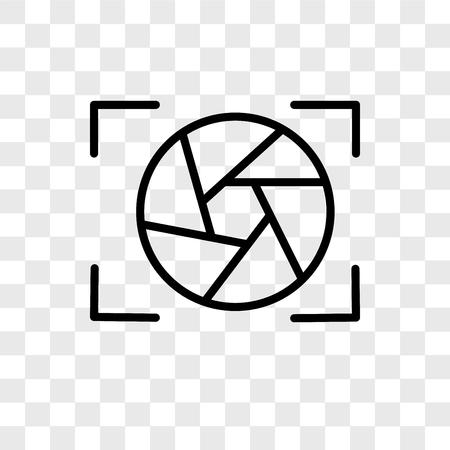Verschlussvektorikone lokalisiert auf transparentem Hintergrund, Verschlusslogokonzept Logo