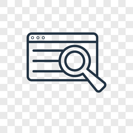 Search vector icon isolated on transparent background, Search logo concept