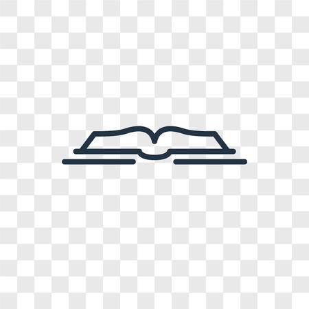 Icona di vettore del libro aperto isolato su sfondo trasparente, concetto di marchio del libro aperto Vettoriali