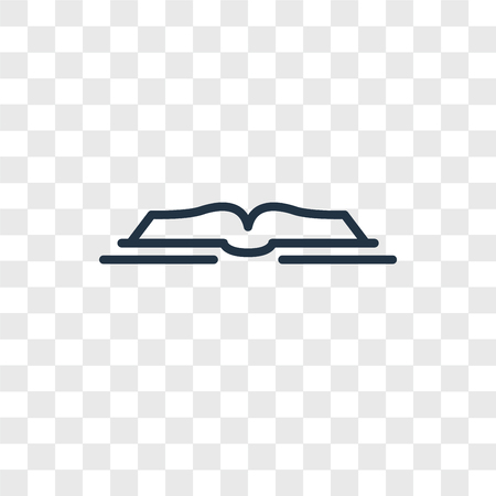 Open book vector icon isolated on transparent background, Open book logo concept Ilustrace