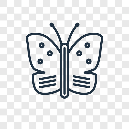 Butterfly vector icon isolated on transparent background, Butterfly logo concept Archivio Fotografico - 107778746