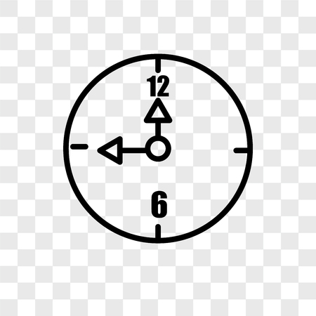Alarm clock vector icon isolated on transparent background, Alarm clock logo concept