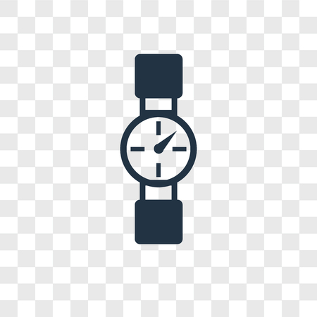 Watch vector icon isolated on transparent background, Watch logo concept