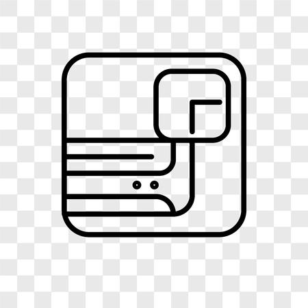 Icône de vecteur de climatiseur isolé sur fond transparent, concept logo climatiseur Logo