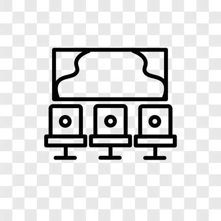Studio vector icon isolated on transparent background, Studio logo concept