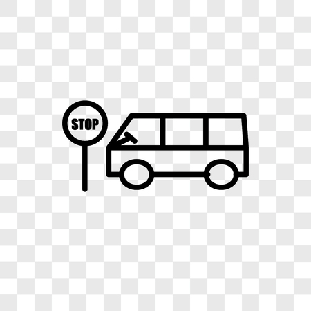 Bus stop vector icon isolated on transparent background, Bus stop logo concept Zdjęcie Seryjne - 107778270