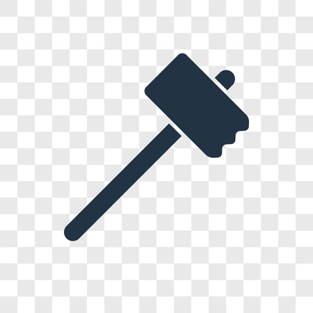 Mallet vector icon isolated on transparent background, Mallet logo concept