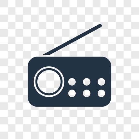 Radio vector icon isolated on transparent background, Radio logo concept