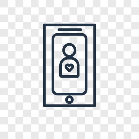 Smartphone vector icon isolated on transparent background, Smartphone logo concept Stock Vector - 107778233