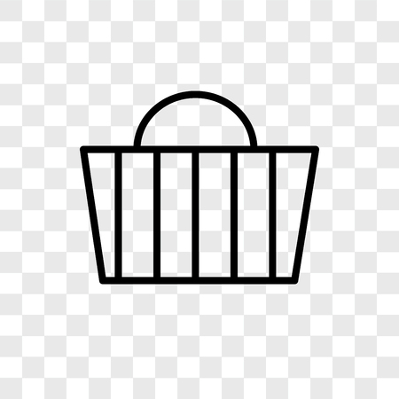 Basket vector icon isolated on transparent background, Basket logo concept