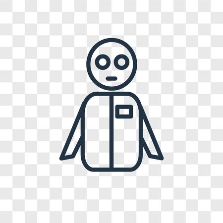 icône de vecteur homme isolé sur fond transparent, concept logo groupe
