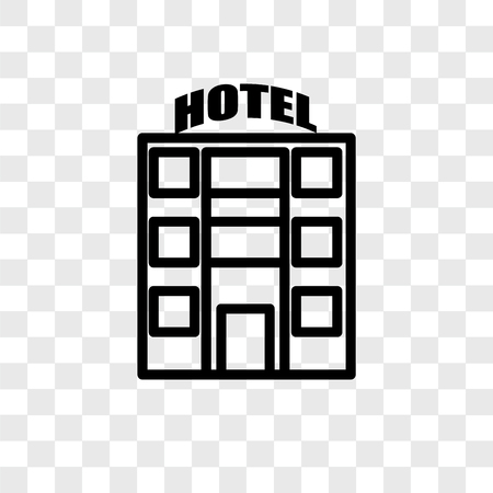 Motel vector icon isolated on transparent background, Motel logo concept