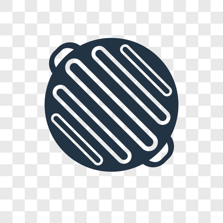 Grill vector icon isolated on transparent background, Grill logo concept 矢量图像