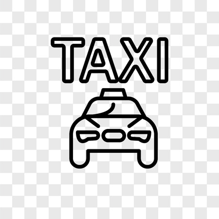 Taxi vector icon isolated on transparent background, Taxi logo concept