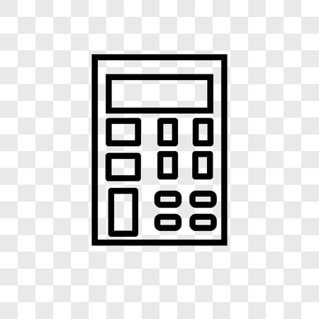 Calculator vector icon isolated on transparent background, Calculator logo concept Ilustração