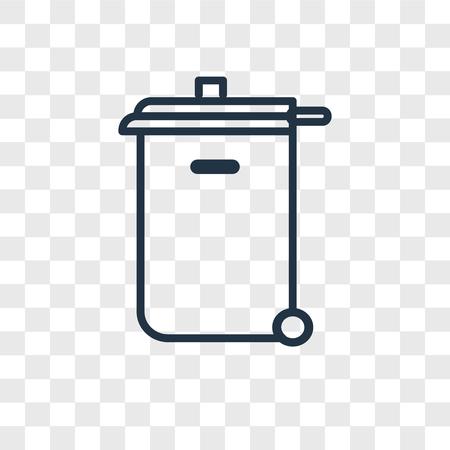 Trash bin vector icon isolated on transparent background, Trash bin logo concept