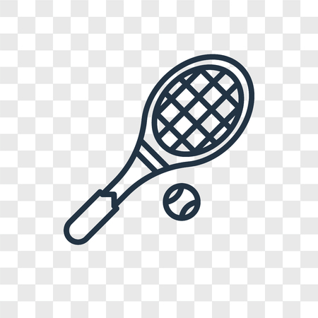 Tennis racket vector icon isolated on transparent background, Tennis racket logo concept