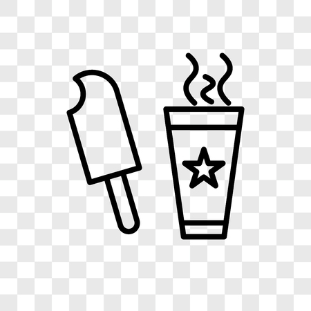 drink cup and icecream vector icon isolated on transparent background, logo concept Illustration