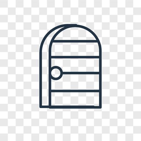 Door vector icon isolated on transparent background, Door logo concept