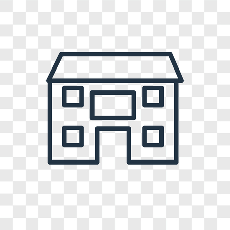 home vector icon isolated on transparent background, home logo concept