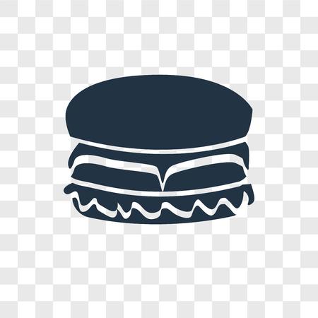Hamburger vector icon isolated on transparent background, Hamburger logo concept