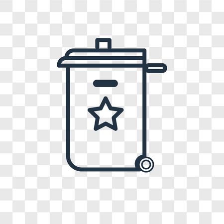 Recycle bin vector icon isolated on transparent background, Recycle bin logo concept Illustration