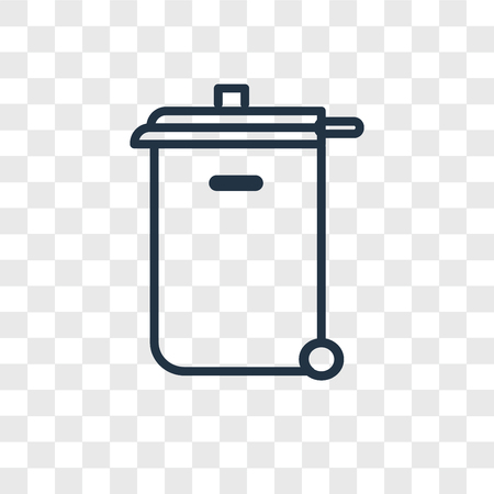 Recycling bin vector icon isolated on transparent background, Recycling bin logo concept Logo