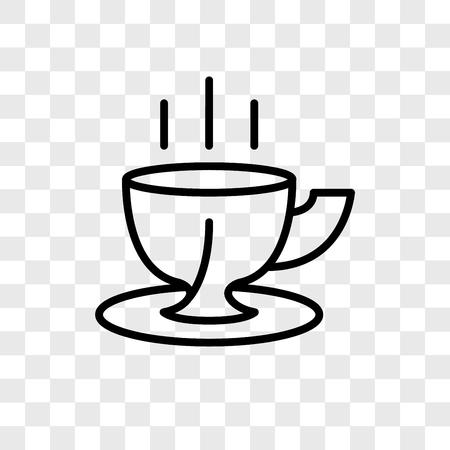 Icône de vecteur de tasse à café isolé sur fond transparent, concept logo tasse à café Logo