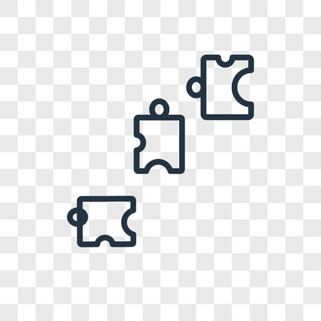 Puzzle vector icon isolated on transparent background, Puzzle logo concept