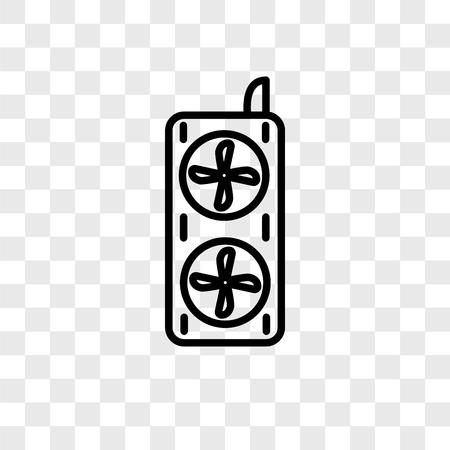 Fan-Vektor-Symbol auf transparentem Hintergrund isoliert, Fan-Logo-Konzept Logo