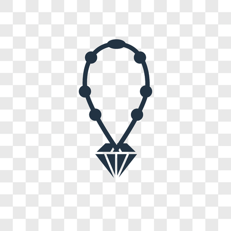 Necklace vector icon isolated on transparent background, Necklace logo concept Reklamní fotografie - 107701166